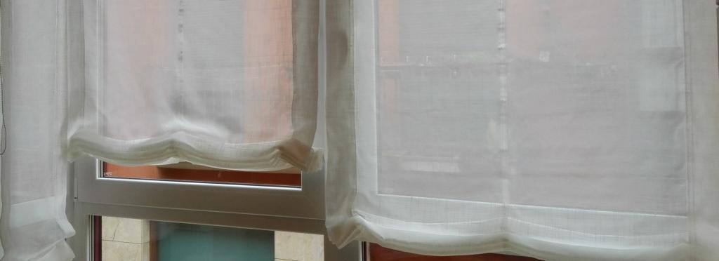 Estores paqueto visillo color crema ventanal cortinas y for Visillos estores para salon