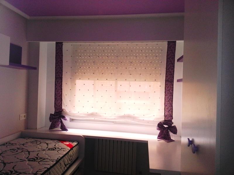 Estor pacchetto con cintas y lazos cortinas y estores le n - Cortina con estor ...